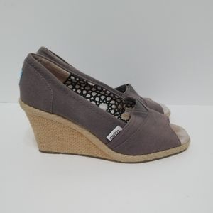 Toms calypso wedges size 7.5